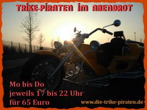 Trike-Piraten-Abendrot